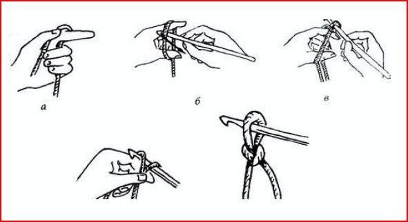 Как сделать начальную петлю на крючке